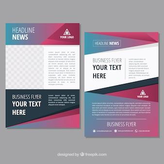Buntes modernes broschürendesign