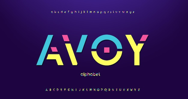 Buntes modernes dekoratives alphabet