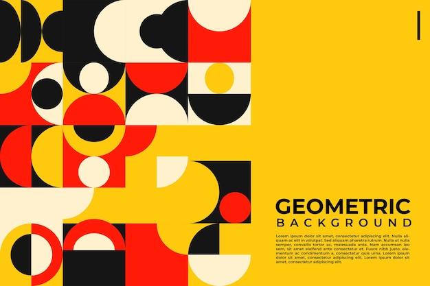 Buntes mosaik neo geometrischer abdeckungshintergrund