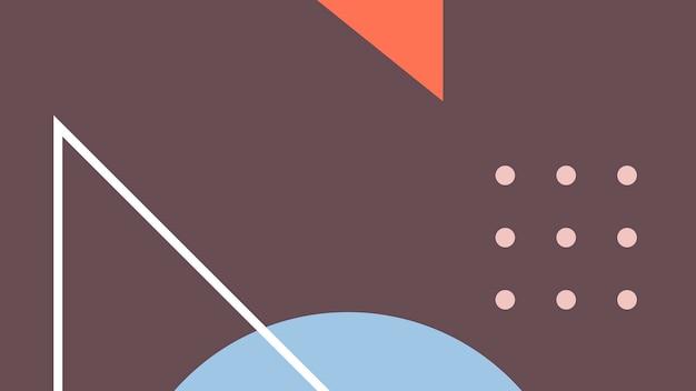 Buntes muster mit abstrakten formen