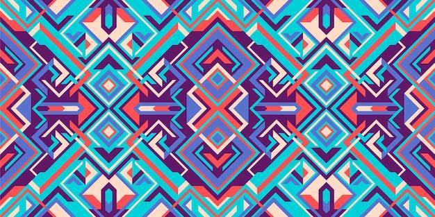 Buntes nahtloses muster des geometrischen stils
