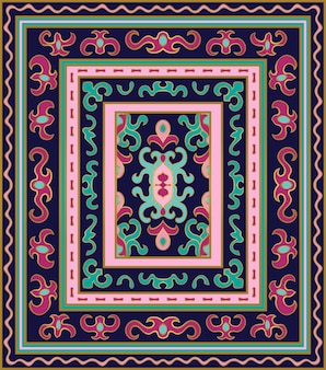 Buntes nahtloses muster für abstrakten teppich.