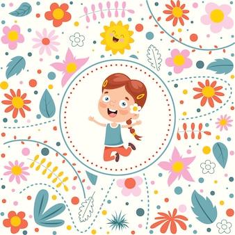 Buntes nahtloses muster für glücklichen kindertag