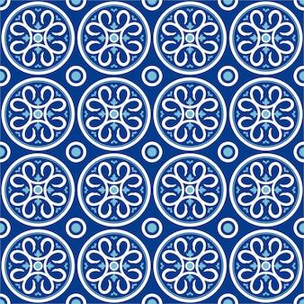 Buntes nahtloses muster mit dekorativem flachem design.