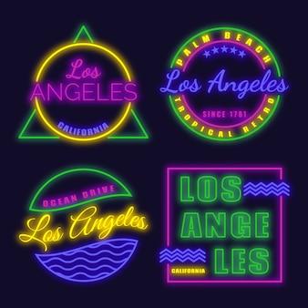 Buntes neon los angeles