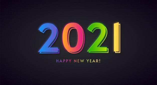 Buntes neues jahr 2021 frohes neues jahr