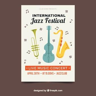 Buntes plakat für internationalen jazztag