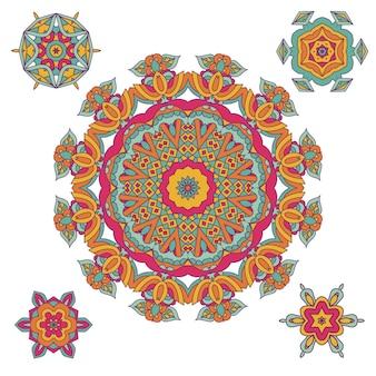 Buntes rundes ethnisches mandala