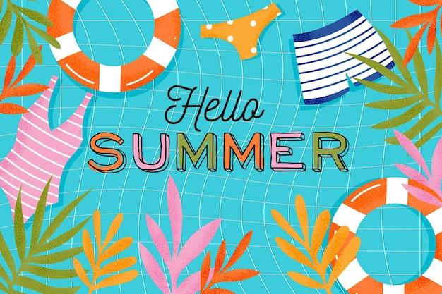 Buntes sommerhintergrundkonzept