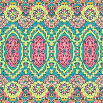 Buntes stammes-ethnisches festliches abstraktes blumenvektormuster