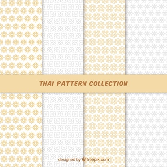 Buntes thailändisches muster mit flachem design
