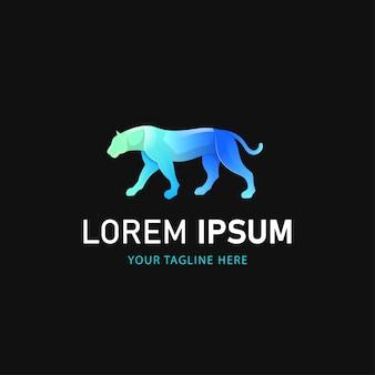 Buntes tiger-logo-design. gradient animal logo style