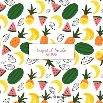 Buntes tropisches fruchtmuster