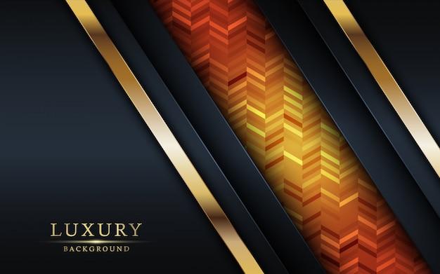 Buntes und goldenes hintergrunddesign des luxus.
