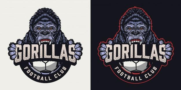 Buntes vintage-logo des fußballclubs