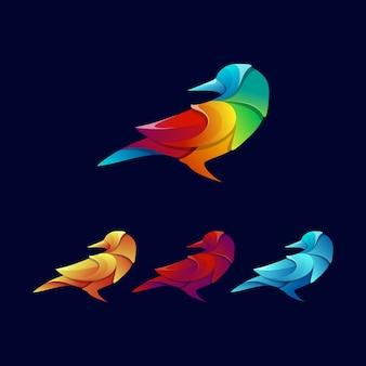 Buntes vogellogo-designbündel