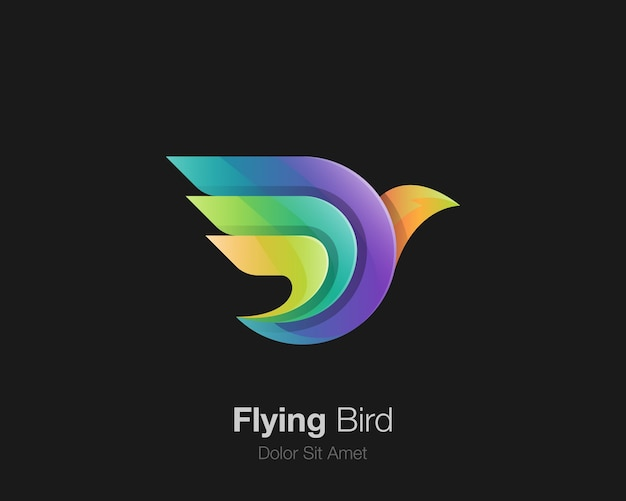Buntes vogellogo