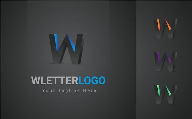 Buntes w-buchstaben-logo
