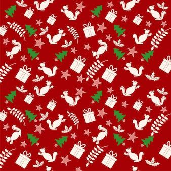 Buntes weihnachtsthema-nahtloser muster-hintergrund.
