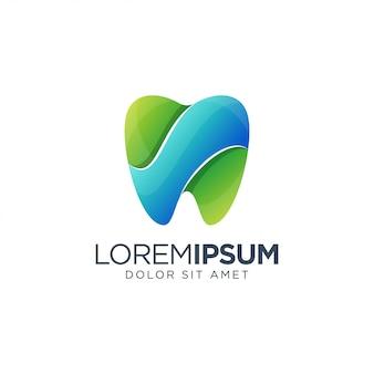 Buntes zahnmedizinisches logo