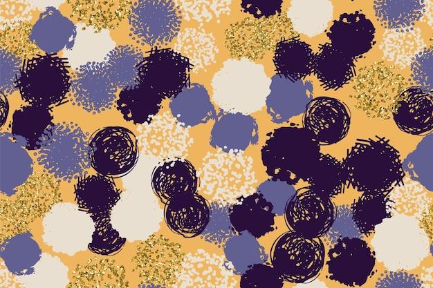 Buntes zeitgenössisches nahtloses muster mit abstrakten formen
