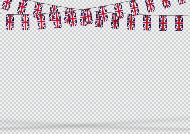 Bunting hanging uk britische flagge