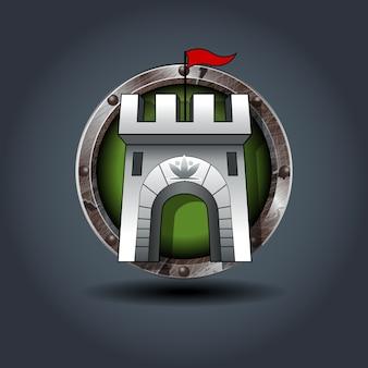 Burg verteidigungsturm