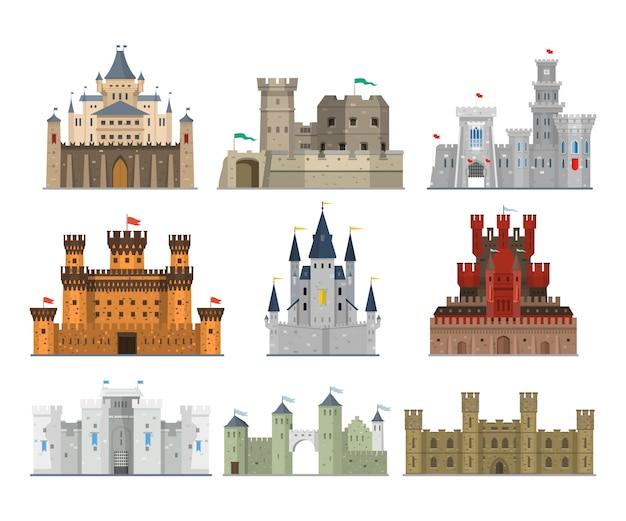 Burgen und festungen gesetzt