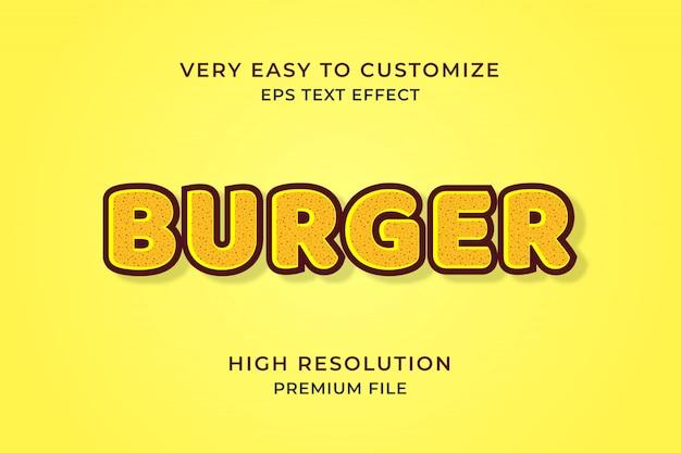 Burger 3d-texteffekt