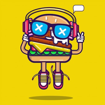 Burger-aufkleber