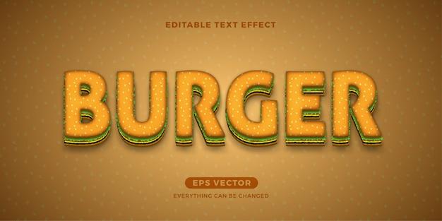 Burger bearbeitbarer text