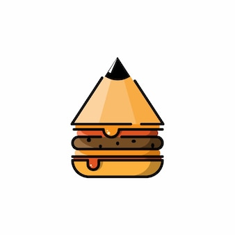 Burger-bleistift-logo-design