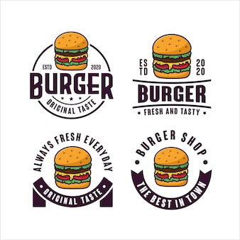 Burger design logo kollektion