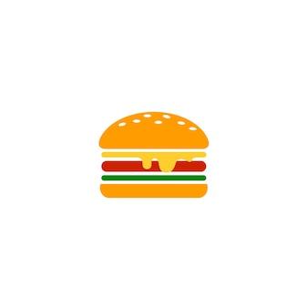 Burger essen logo vorlage