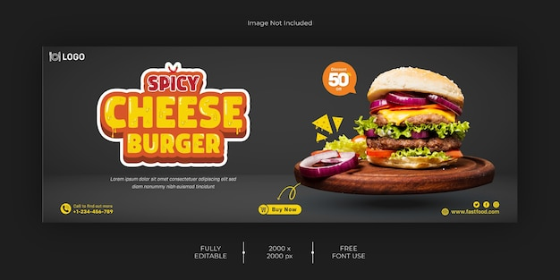 Burger fastfood facebook cover vorlage