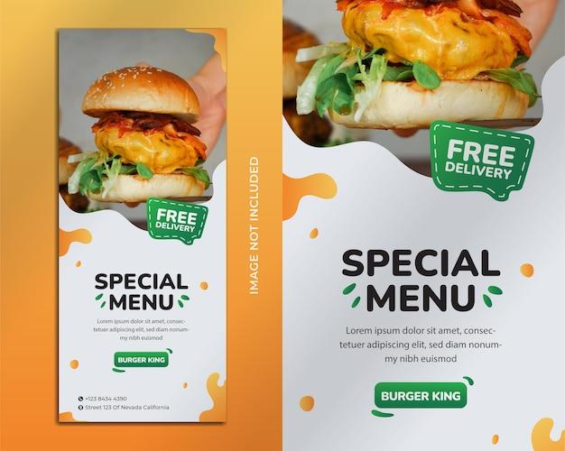 Burger flyer vorlage