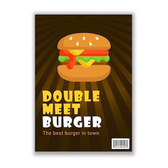 Burger-food-poster im layout a4