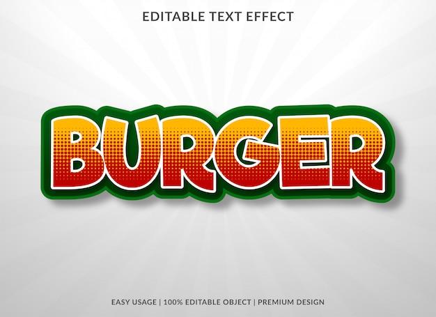 Burger food texteffekt