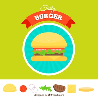 Burger hintergrund design