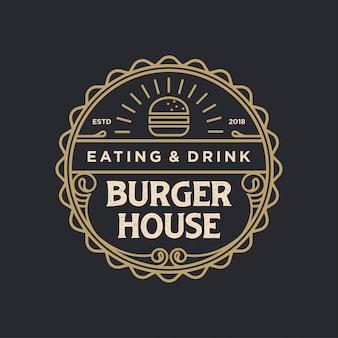 Burger house logo jahrgang
