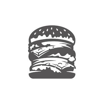 Burger-ikone isolierte illustration