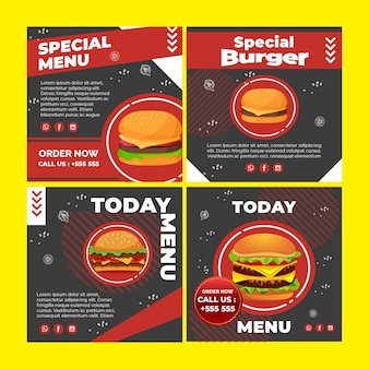 Burger instagram post sammlung