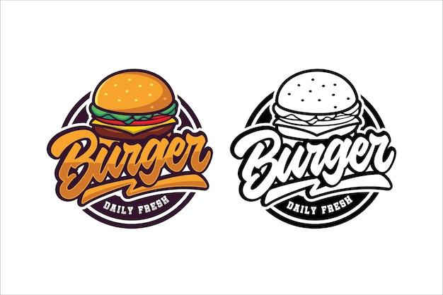 Burger logo vorlage sammlung