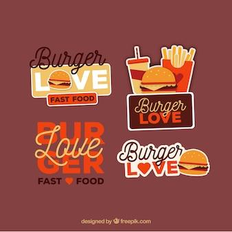 Burger logos mit großartigen designs