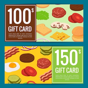 Burger rabatt oder geschenkset