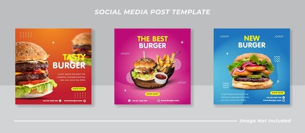 Burger social media feed post vorlage