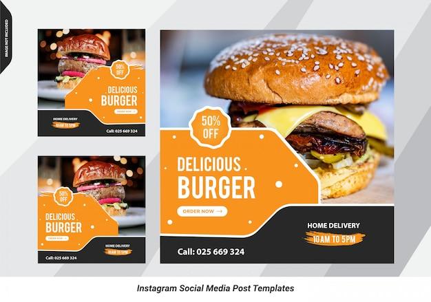 Burger verkauf soziale post-design