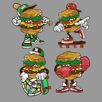 Burger zeichentrickfigur