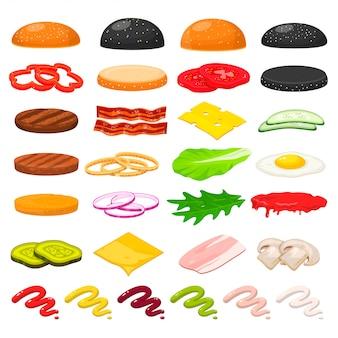Burger zutaten festgelegt