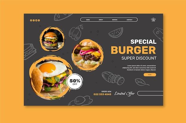 Burgers restaurant landingpage vorlage